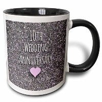 3dローズInspirationzStore–10th結婚記念日ギフト–TinビットフォトCelebrating 10Years Together Tenth Anniversaries...