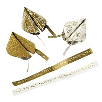 Talking Tables Party Porcelain Gold Fortune Cookie Trivia for a General Celebration, Gold & White ...