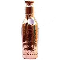 STREET CRAFT Copper Wine bottle water Bottle Copper Bottle Handcrafted Hammered with Beautyfull...