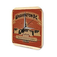 壁時計 wall clock Retro Wall Art Metropole Washington, D.C. Motto Justitia Omnibus Plexiglass