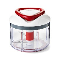 Zyliss Easy Pull Manual Food Processor and Chopper, Red by Zyliss [並行輸入品]