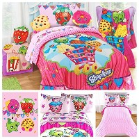 ShopkinsおもちゃComplete 5 Piece Bedding Comforter Set – Twin