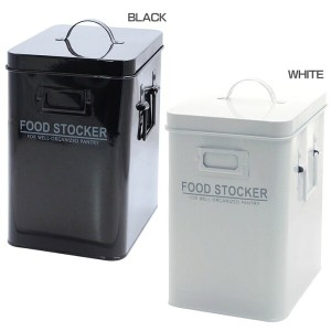 FOOD STOCKER トール A174BK・A174WHフードストッカー 保存容器 6.5L スチール BLACK・WHITE【D】