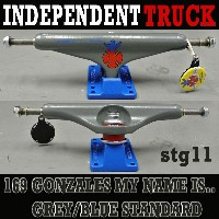 INDEPENDENT/インデペンデントトラック169 STAGE11 GONZALES MY NAME IS... MODEL GREY BLUE STANDARD TRUCKS...