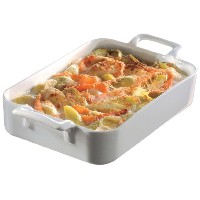 Revol Belle Cuisine 2.7-Quart Rectangular Roasting Dish, White by Revol