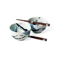 Japanese Sumi Bowls with箸ギフトセット
