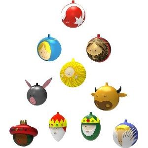 Alessi Amj13S10 Christmas Ornaments In Blown Glass, Set of 10 by Alessi [並行輸入品]