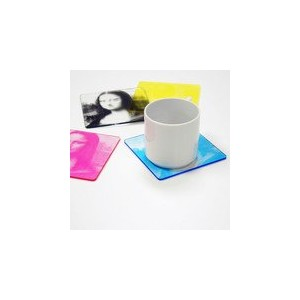 CMYK Color Printed Coasters by WAKU [並行輸入品]