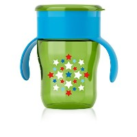 Philips Avent My Natural Drinking Cup, 9 Ounce, Green/Blue/Red, Stage 4