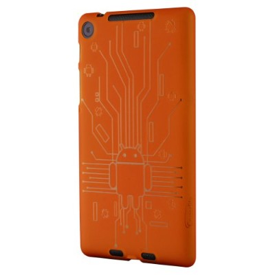 Cruzerlite Bugdroid Circuit Case for Nexus 7 (2013)(オレンジ) N7FHD-Circuit-Orange
