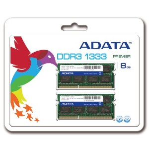 ADATA Technology DDR3 SO-DIMM (1333)-8G/256x8(4Gx2枚)