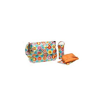 Kalencom Laminated Buckle Bag, Big Daisy by Kalencom