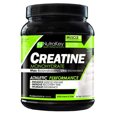 CREATINE MONOHYDRATE 1000g by NUTRAKEY