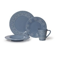 ミカサSutton Teal 4-piece Place Setting、サービスfor 1