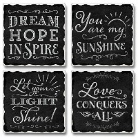 Love Conquers All Highland Graphics Tumbled Tile Coasters set of 4 by Highland Graphics