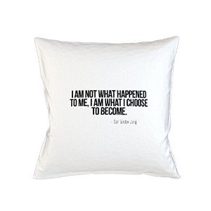 I Am Not What Happened To Me I Am What I Choose To Become Carl Gustav Jung 引用する Sofa ベッドホームデコールクッション...