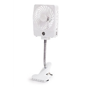 LOHOME Mini Clip-on Fan, Handheld Square Electrical Rechargeable Fan Portable 3 Speeds Cooler...