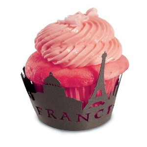 High Quality Brands 7146 Eiffel Tower/Paris France Cupcake Wrappers