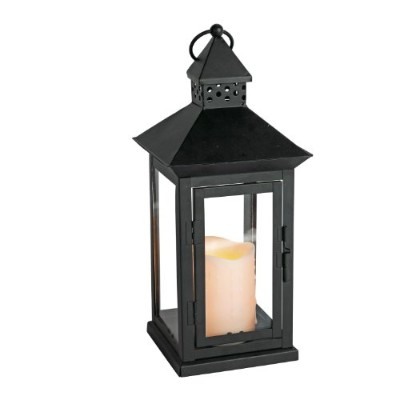 High Qualityndoor/Outdoor 6 x 14 Lantern And LED Candle, Timer, Bisque