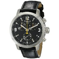 ティソ Tissot 腕時計 メンズ 時計 Tissot Men's TIST0554171605700 PRC 200 Chronograph Stainless Steel Watch with...