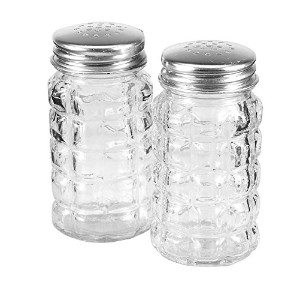 Anchor Hocking 35248 Tabletop Salt and Pepper Shakers, 3.5, Clear by Anchor Hocking
