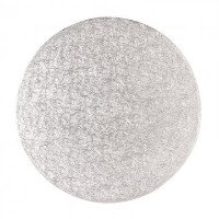 Cake Board - Round Silver Fern - 14 Inch - Pack of 5