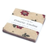 Prairie Cactus Charm Pack By Kansas Troubles Quilters; 42 - 5 Precut Fabric Quilt Squares by moda