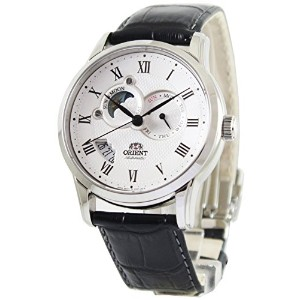 ORIENT(オリエント) SET0T002S0 SUN AND MOON WHITE DIAL BLACK LEATHER BAND MEN'S WATCH 男性用 メンズ 腕時計 [並行輸入品]