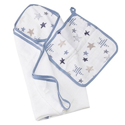 エイデンアンドアネイ/Aden+Anais Hooded towel stes 3060 (カラー:Rock star)