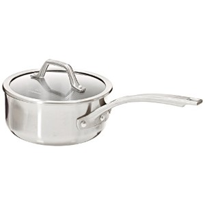 Calphalon AccuCore Stainless Steel Shallow Sauce Pan with Cover, 2.5-Quart by Calphalon
