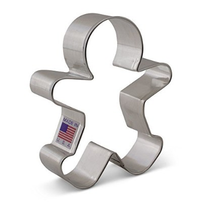 Happy Gingerbread Man Cookie Cutter - Ann Clark - 9.5cm - US Tin Plated Steel