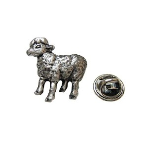 Silver Toned Sheepラペルピン