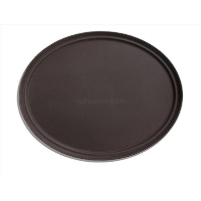 New Star 25545 NSF Plastic Oval Rubber Lined Non-Slip Tray, 22 by 27-Inch, Brown by New Star...