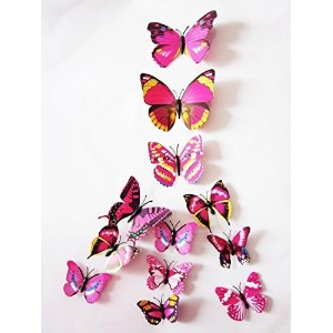 Removable 3d Butterfly Wall Sticker Magnet Art Design Decorative Butterfly Sticker Decal for Home...