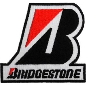 BRIDGESTONE Tires Motorcycles Cars Racing Motorsport Patch Sew Iron on Logo Embroidered Badge Sign...