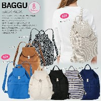 10%OFF 【 BAGGU 】 Backpack バックパック リュック デイパック リサイクルコットン100% キャンバスバッグ ユニセックス エコバッグ【ギフトラッピング対応】 BACKPACK