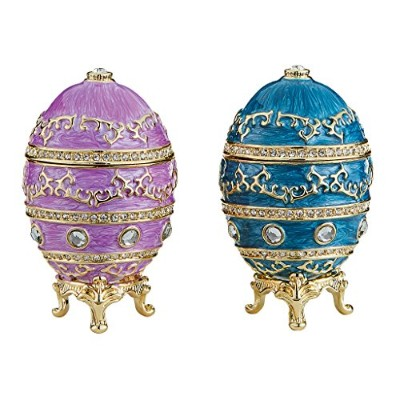 デザイントスカーノfh929072 Imperialバロックfaberge-style Enameled Egg (Set of 2 )