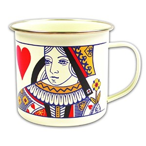 High Quality Playing Cards Queen Enamel Mug, Multicolor