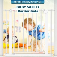 Babysafe Baby Safety Barrier Gate/ Easy-Close Door White/ Pet Fence/High Quality Steel Stair Gate