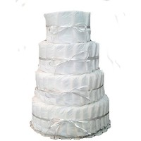 4 Layer Decorate It Yourself Diaper Cake by Rubber Ducky