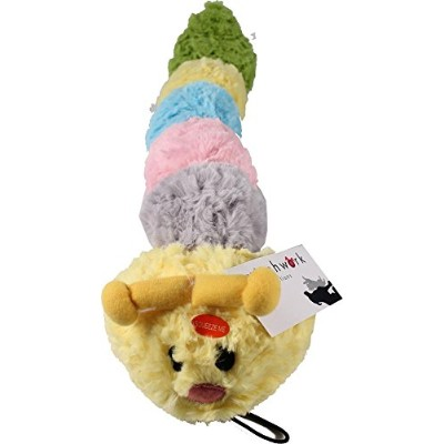 Patchwork Pet Pastel Caterpillar 20-Inch Squeak Toy for Dogs by Patchwork Pet