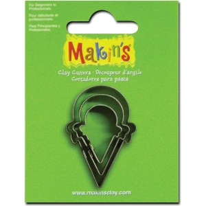 Makin's Clay Cutters 3/Pkg-Ice Cream Cone (並行輸入品)