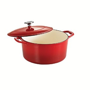 Tramontina Enameled Cast Iron Covered Round Dutch Oven, 5.5-Quart, Gradated Red by Tramontina