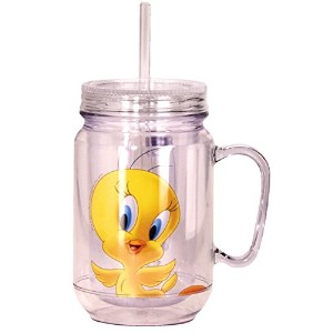 Looney Tunes Tweety Mason Jar, Yellow [並行輸入品]