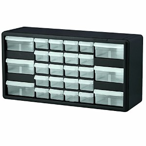Akro-Mils 10126 26 Drawer Plastic Parts Storage Hardware and Craft Cabinet, 20-Inch by 10-Inch by 6...