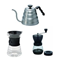 Hario V60 Kettle, Decanter & Coffee Mill - Three Products All Sold Together by Hario