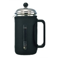 GROSCHE Fino 34 oz. 1000ml Glass French Press with Thermal Insulated Neoprene Sleeve for Warmth and...