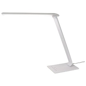 Sunlite DESK/12W/WHITE/TC LED Desk Lamps with USB 4 Color and Dimming Modes Flexible Arm White...