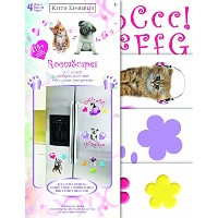 Sandylion Keith Kimberlin Kittens and Puppies Roomscape Wall Accent Stickers [並行輸入品]