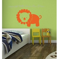 Wall Decor Plus More WDPM3498 Lion Vinyl Wall Decal Animal Sticker for Kids Baby Room, 23x16,...